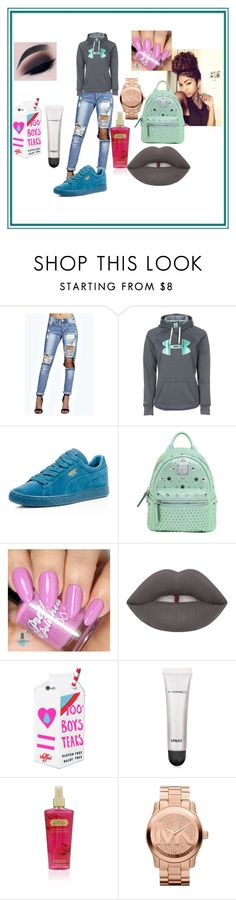 """# Nun Major & Life"" by savagelife01 on Polyvore featuring Boohoo, Under Armour, Puma, MCM, Valfré, MAC Cosmetics, Victoria's Secret, Michael Kors, women's clothing and women"