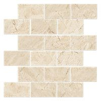 Queen Beige Polished Amalfi Marble Mosaic Tile - 12 x 12 in. $13.99 Sq Ft      Coverage 9.68 Sq Ft per  Box