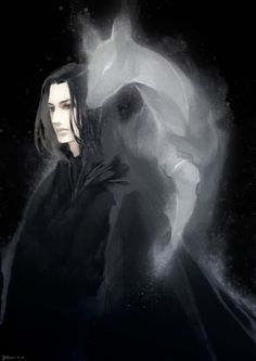 Severus Snape [anime making ugly people hot since forever] lily snily doe patronus harry potter fan art