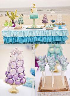 blue and purple ombre desserts