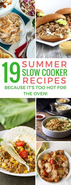 Why did I never think to use my slow cooker in the summer! These recipes are perfect for easy dinners and even picnics!