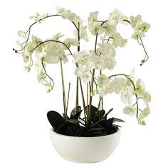 Orquídea artificial en tiesto Al. 98cm FLORA