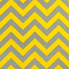 Zig Zag Ash Corn Yellow Slub Stripe by Premier $9.75  Accents for bedroom redo