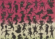 """太田記念美術館さんのツイート: """"【江戸妖怪大図鑑/第1部は27日(日)まで】妖怪たちのシルエット。踊りながら皆さまのお越しをお待ちしています。歌川芳藤「しん板あんどんうつしかげぼうし」より。 http://t.co/i4JK6KDZiY"""""""