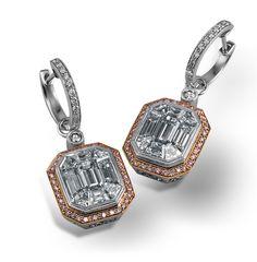 Simon G. Mosaic Diamond Earrings