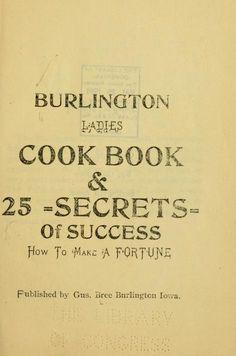 Burlington ladies cook book & 25 secrets of suc...