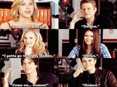Damon or Stefan? The fact that even Paul picks Damon makes me laugh