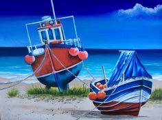 Low tide. Acrylics Tracey krupianka