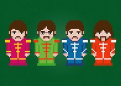 The Beatles Digital PDF Cross Stitch by AmazingCrossStitch