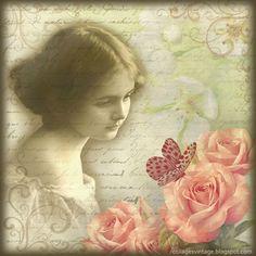 fondo vintage flores -