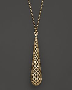 "Gucci 18K Yellow Gold Diamantissima Light Necklace, 28"" - Necklaces - Shop by Style - Fine Jewelry - Bloomingdale's"