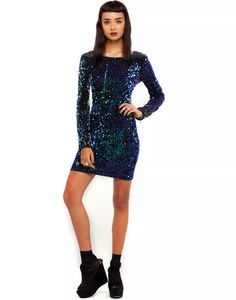 492803b7b87 MOTEL DELUXE Gabby Sequin Dress in Iridescent Purple