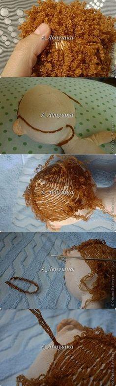 MK en la creación de peinados para las muñecas ..