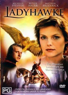 """""""Lady Hawke"""" Michelle Pfeiffer as (Isabeau d'Anjou) and Rutger Hauer as (Captain Etienne Navarre) 80s Movies, Great Movies, Movies To Watch, Michelle Pfeiffer, See Movie, Film Movie, Movie List, Movies Showing, Movies And Tv Shows"""