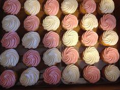 Sam's Club Cupcakes- pink/white