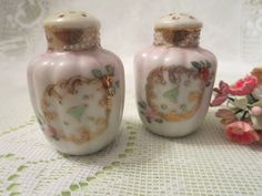 Vintage  Floral Salt and Pepper Shakers by MemaAntiques on Etsy
