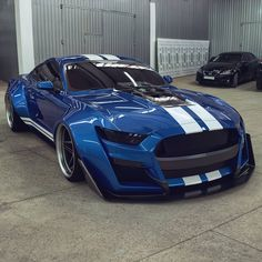 Ford Mustang Shelby GT 500 by Car Collection™ Shelby Gt500, Shelby Mustang, Blue Mustang, Luxury Sports Cars, Best Luxury Cars, Sport Cars, Widebody Mustang, Mustang Gt500, Mustang Cars