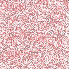 Blossom Fabric by the Yard - Coral and White by GailWrightatHome on Etsy https://www.etsy.com/listing/154544880/blossom-fabric-by-the-yard-coral-and