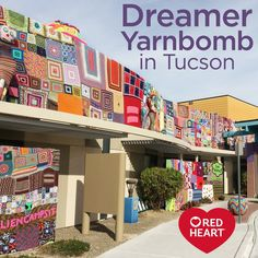 Dreamer Yarnbomb in Tucson -- We spoke with Stephen Duneier, the Yarn Bomber, about his recent Dreamer Yarnbomb in Tucson, AZ. He put yarn-covered aliens on the roof of a children's hospital, and wrapped the building in colorful panels contributed from people all over the world. Read our Q & A with Stephen about this amazing project.