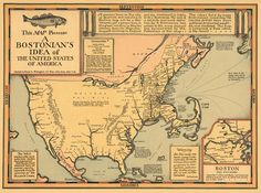 This map presents a Bostonian's Idea of the United States, 1976