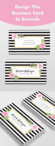Design this Beautiful Business Card in Seconds! It's easy and FREE to use. Exclusively by Jukebox Print