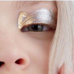 silver gold eye shadow