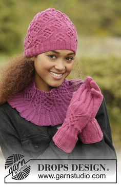 Комплект аксессуаров Vadelma (шапка, воротник, перчатки)