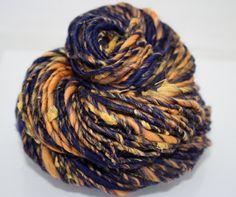 NAUTICAL DREAMS Handspun Art Yarn Merino Wool, Silk Noil, Cultivated Silk 82 yds.