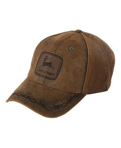John Deere Oilskin Look Patch Casual Cap 477b7c97549