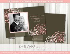 Sweet Love Photo Valentine's Day Card : by KMThomasDesigns on Etsy