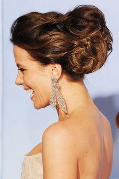 Kate Beckinsdale hair (2012 Golden Globes)