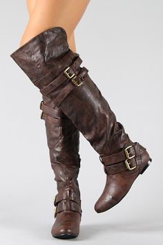 Vickie-16H Buckle Slouchy Thigh High Boot - only 36 bucks. I will have these at some point this fall! Perfect to keep warm(er) in knee length skirts.
