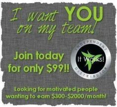 You can start your 2014 BIG with joining my It Works team. It's only $99 to start being your own boss and being debt free!!! Visit www.wrappingvargas.myitworks.com and join my team today.