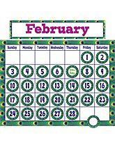Peacock Calendar Bulletin Board Display Set
