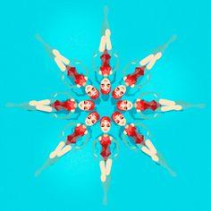 Synchronized swimming pattern. Karoline Pietrowski