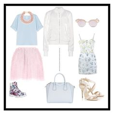 """""""Spring"""" by katrijn-vanlessen ❤ liked on Polyvore featuring RED Valentino, Givenchy, Timberland, Jimmy Choo, Le Specs, Alexander McQueen, T By Alexander Wang, Alexander Terekhov and Kenneth Jay Lane"""