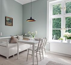 Scandinavian Kitchen In Green, Stone & White | Dust Jacket | Bloglovin'