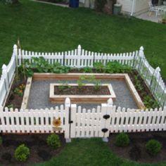 Vegetable garden in early summer.