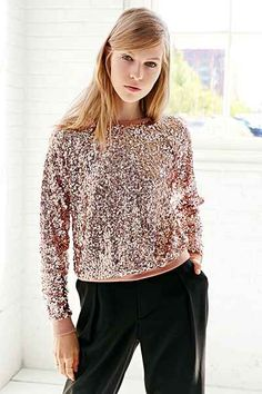 Love Sadie Disco Sequin Top - Urban Outfitters