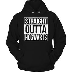 Limited Edition Harry Potter T-shirt Hoodie - Straight Outta Hogwarts