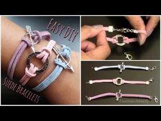 Easy DIY Suede Bracelet - Back to School Tutorial | FromBrainsToBeauty - YouTube
