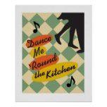 台所レトロのプリントのあたりの私を踊って下さい