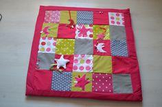 Tapis d'éveil bébé patchwork avec jouets : Jeux, peluches, doudous par ganea