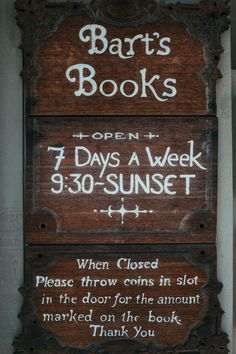 Bart's books, Ojai | my name is yeh