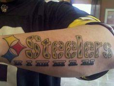 Steelers tattoo Steelers Tattoos, Football Tattoo, Pittsburgh Sports, Cool Tats, Steeler Nation, Pretty Tattoos, Ice Hockey, Tatting, Tattoo Patterns