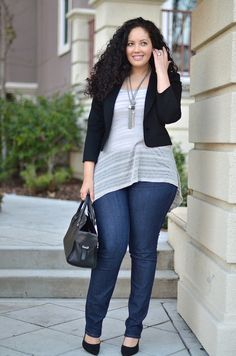 Girl With Curves - Rock & Roll Look Plus Size, Plus Size Casual, Plus Size Women, Plus Size Outfits, Curvy Outfits, Curvy Girl Fashion, Plus Size Fashion, Womens Fashion, Fall Outfits For Work