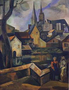 Lino Spilimbergo - Catedral de Chartres, 1928, oil on canvas, 128 x 97 cm