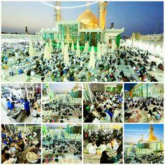 [ 18 Ramadan 1437 ]  Iftaar Inside Al-Askari Holy Shrine.