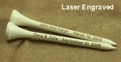 Personalized Wedding Golf Tees by Par Golf Supply, Inc.