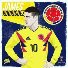 James Rodríguez / Colombia #jamesrodriguez #russia2018 #james #worldcup2018 #colombia #art #fifa #deportes #worldwide #cracks #popart…